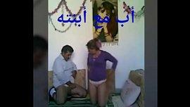 نيك بعد الإفطار مع شاب عربي ينيك طيز زوجته الشابة
