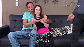 مترجم عربي: محارم مراهقة تغري صديق اخوها وينيك طيزها