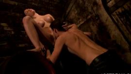 عاطفي امرأة سمراء ضبابي تحصل مارس الجنس من قبل كبير كاف