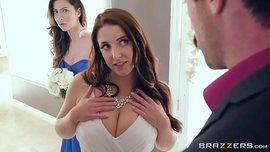 نجمة البورنو الإباحية آنجيلا وايت تمارس الجنس مع صديق عريسها قبل فرحها